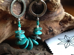 turquoise and snake hook and eye clasp