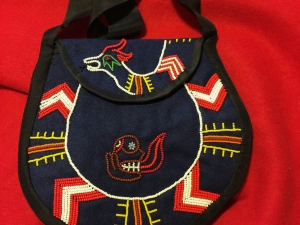Cherokee traditional style purse-Redboy and Uktena
