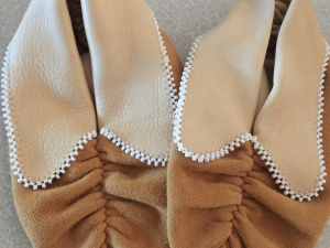 Pucker Toe Moccasins with Beaded Flaps
